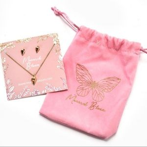 Monarch Bloom Necklace & Earring jewelry set NWT
